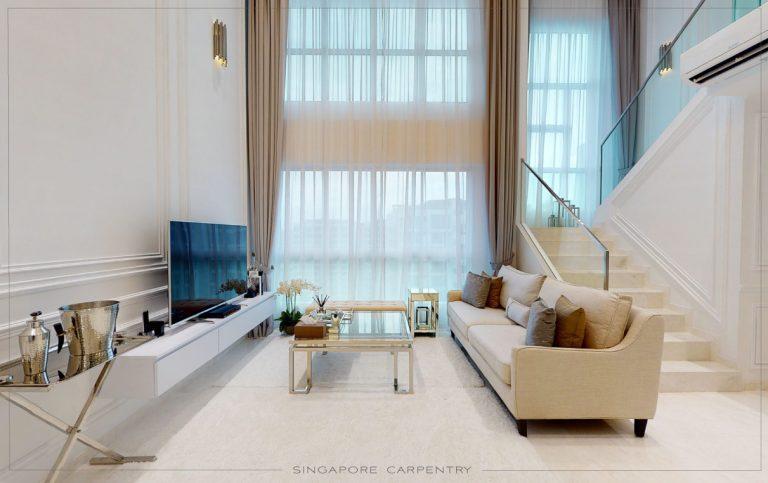 Punggol Field HDB Living Room Design Renovation