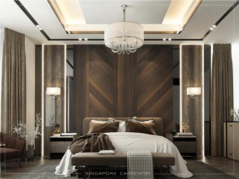 Stylish and comfortable bedroom for a good rest and relaxation