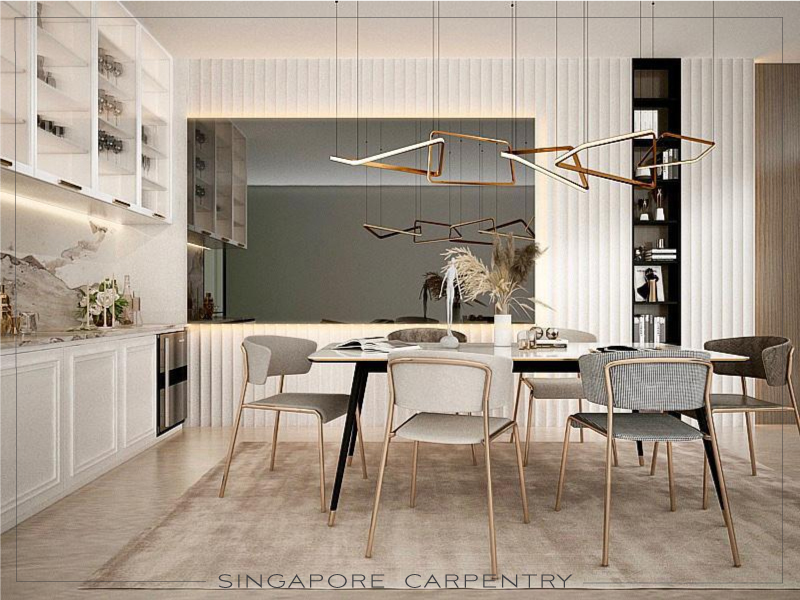 contemporary luxury dining room interior design renovation for landed property