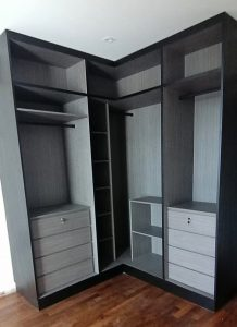 L Shape Wardrobe by Singapore Carpentry