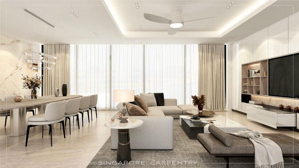 luxury white modern marble home interior condo condominium thomson 800